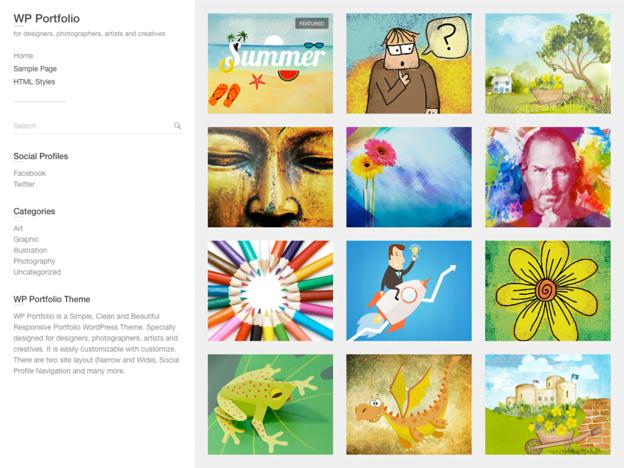 Free Portfolio WordPress Themes