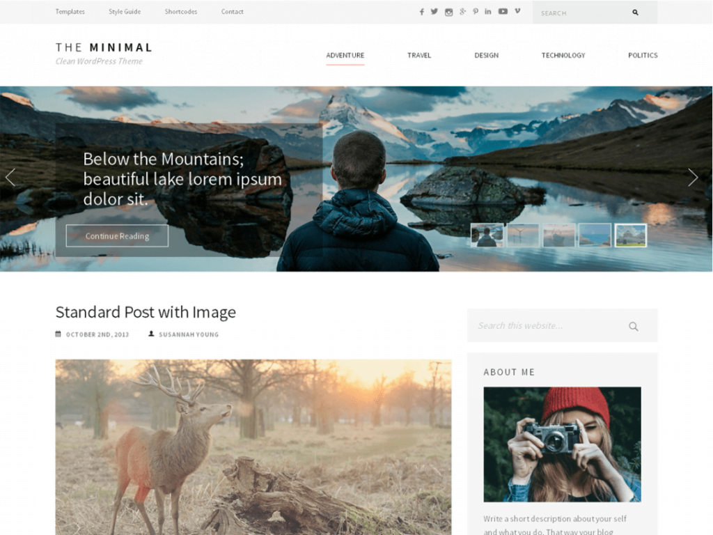 ultra minimalist WordPress theme