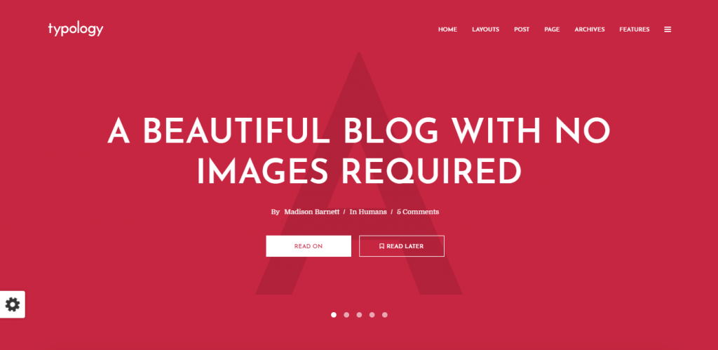 text only WordPress theme